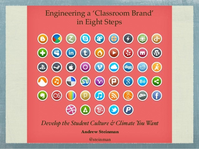 Engineering a 'Classroom Brand' in Eight Steps Develop the Student Culture & Climate You Want Andrew Steinman @steinman