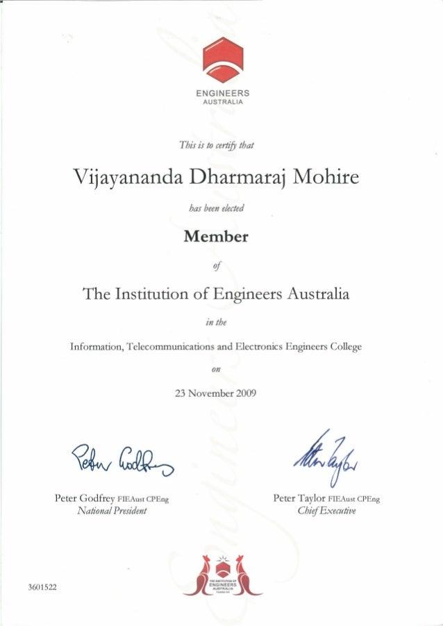 Engineers Australia Member
