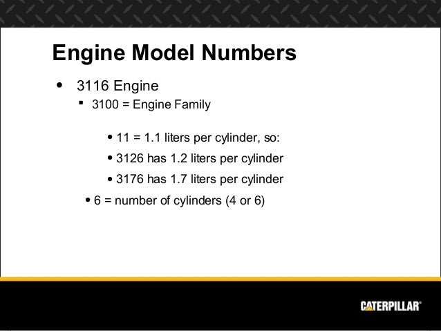 engine systems diesel engine analyst part  engine model numbersbull 3116