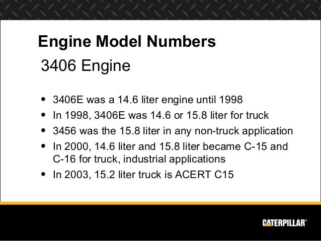 engine systems diesel engine analyst part 1 engine model numbers3406 engine• 3406e