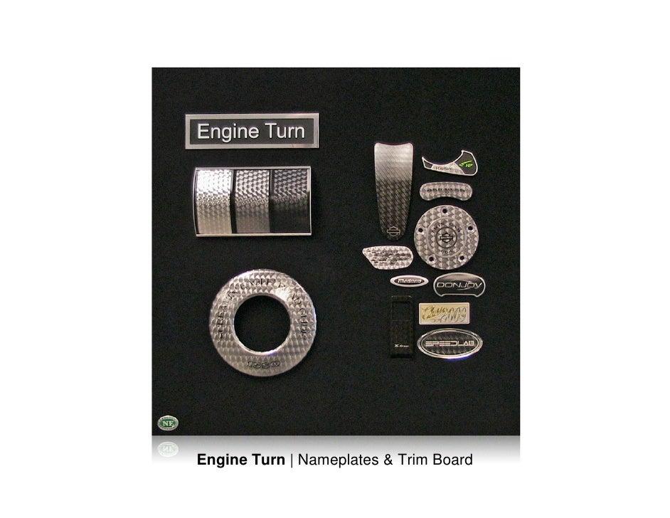 Engine Turn | Nameplates & Trim Board