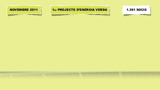 1er PROJECTE D'ENERGIA VERDANOVEMBRE 2011 1.381 SOCIS