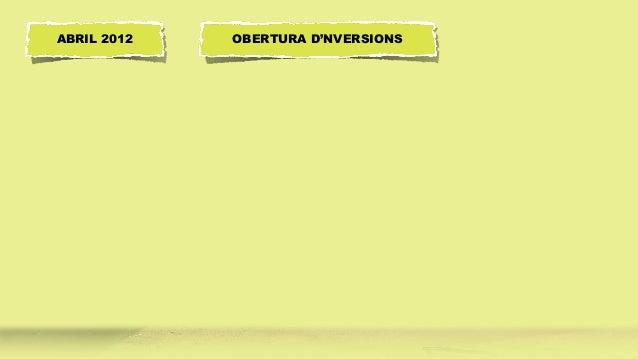 OBERTURA D'NVERSIONSABRIL 2012