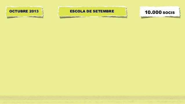 ESCOLA DE SETEMBRE 10.000 SOCISOCTUBRE 2013