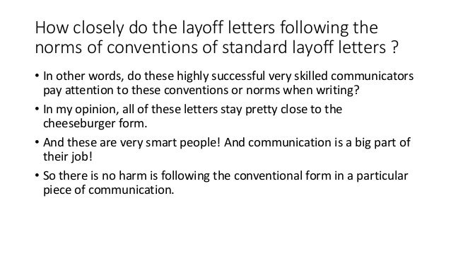 how to write a layoff letter