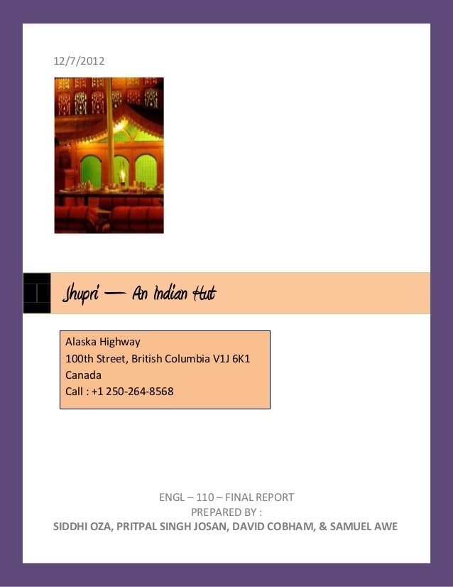 12/7/2012 Jhupri – An Indian Hut  Alaska Highway  100th Street, British Columbia V1J 6K1  Canada  Call : +1 250-264-8568  ...