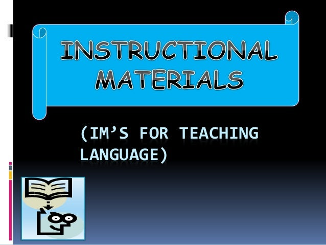 The importance of learning materials in teaching.