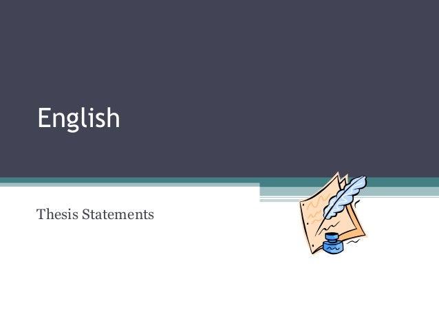Dissertation english