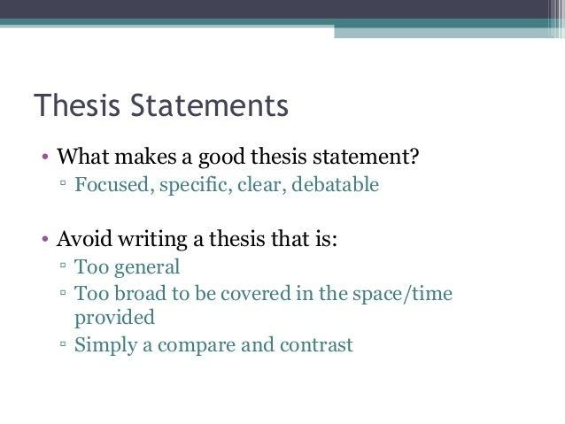 Good english thesis