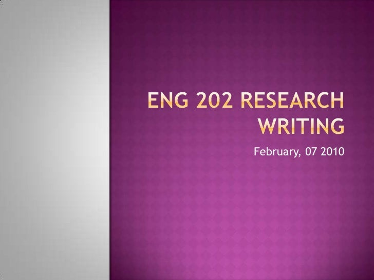 "<li>Eng 202 Research Writing<br />February, 07 2010<br /></li><li>announcements<br />  ""New Muslim Cool: A Conversation wi..."
