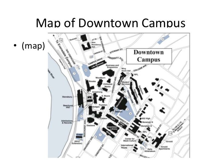 Downtown Campus Map Wvu.Engl304 Disabled Slides