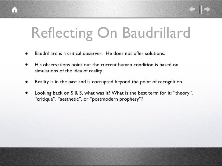 code unknown baudrillard's third order simulacra In order to use their bodies as towards a great unknown although technically the third beyond the matrix baudrillard's simulacra and simulation.