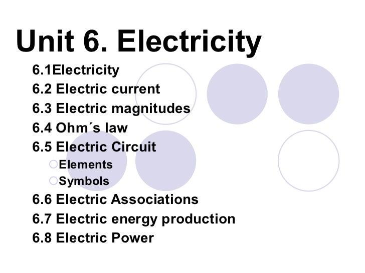 3 Eso Electricity