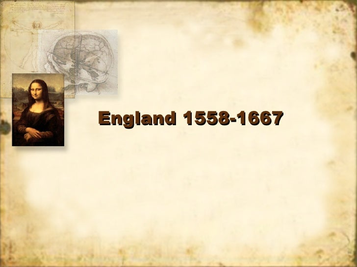 England 1558-1667