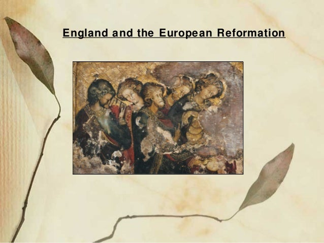 England and the European Reformation