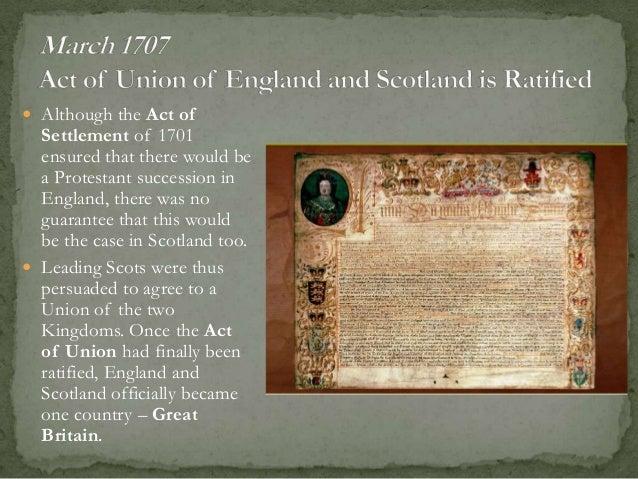 Act of Settlement 1701