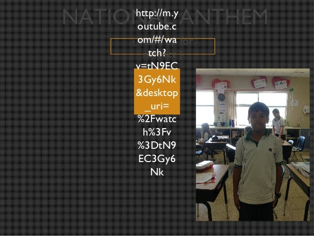 NATIONAL ANTHEM      http://m.y       outube.c     ( om/#/wa for       stand up         tch?        respect )      v=tN9EC...