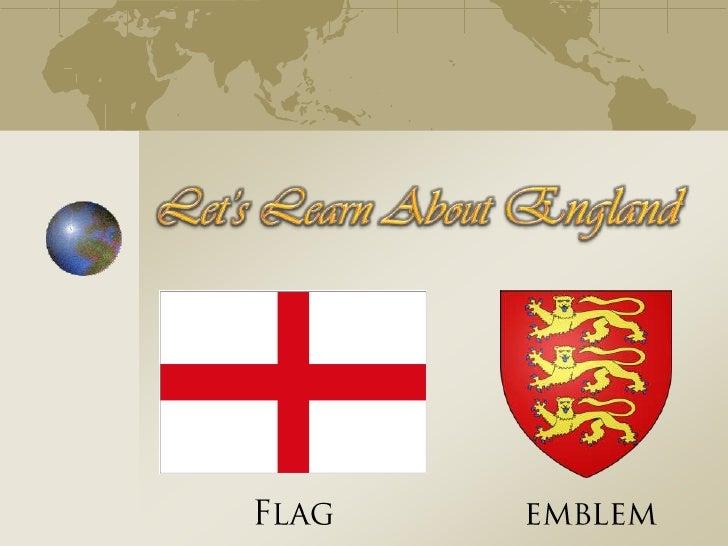 Let's Learn About England<br />Flag<br />emblem<br />