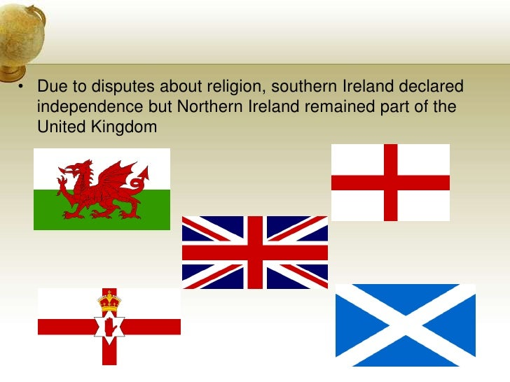 Due to disputes about religion, southern Ireland declared independence but Northern Ireland remained part of the United Ki...