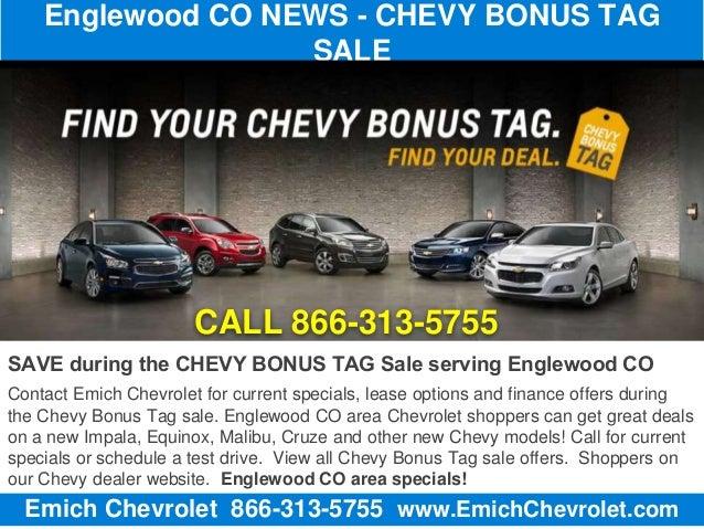 Englewood CO NEWS - Chevy Bonus Tag Sale