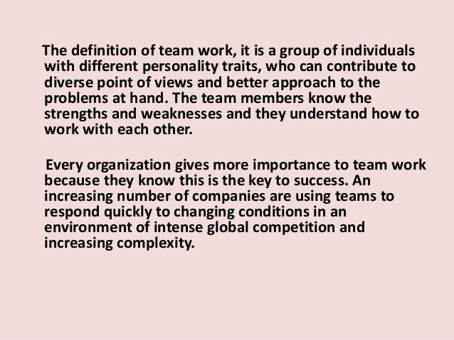 The importance of team work in international corporations(modificat)