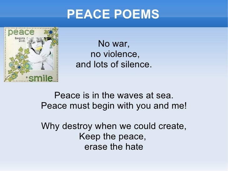 Image result for peace poems photos