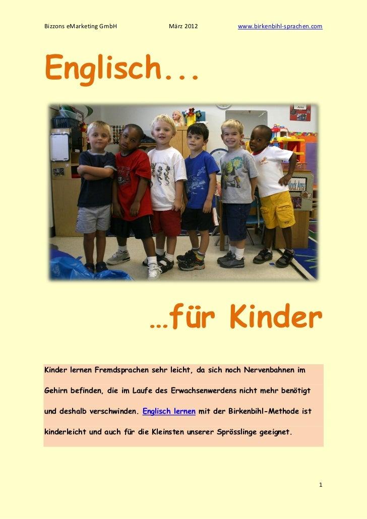 Bizzons eMarketing GmbH           März 2012          www.birkenbihl-sprachen.comEnglisch...                            …fü...