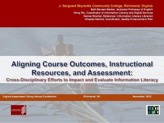 Aligning Course Outcomes, Instructional Resources, and Assessment: Cr…