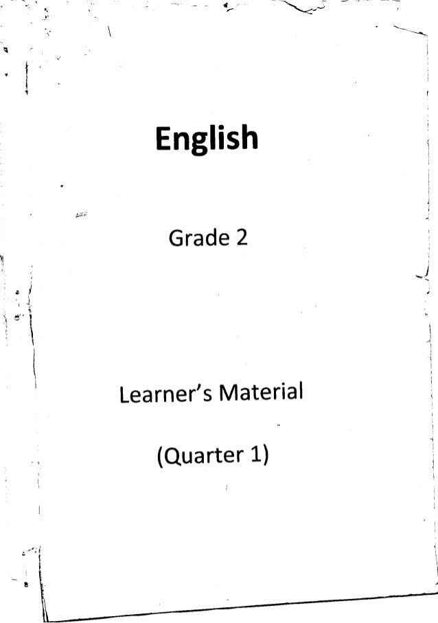 k to 12 grade 2 learning material in