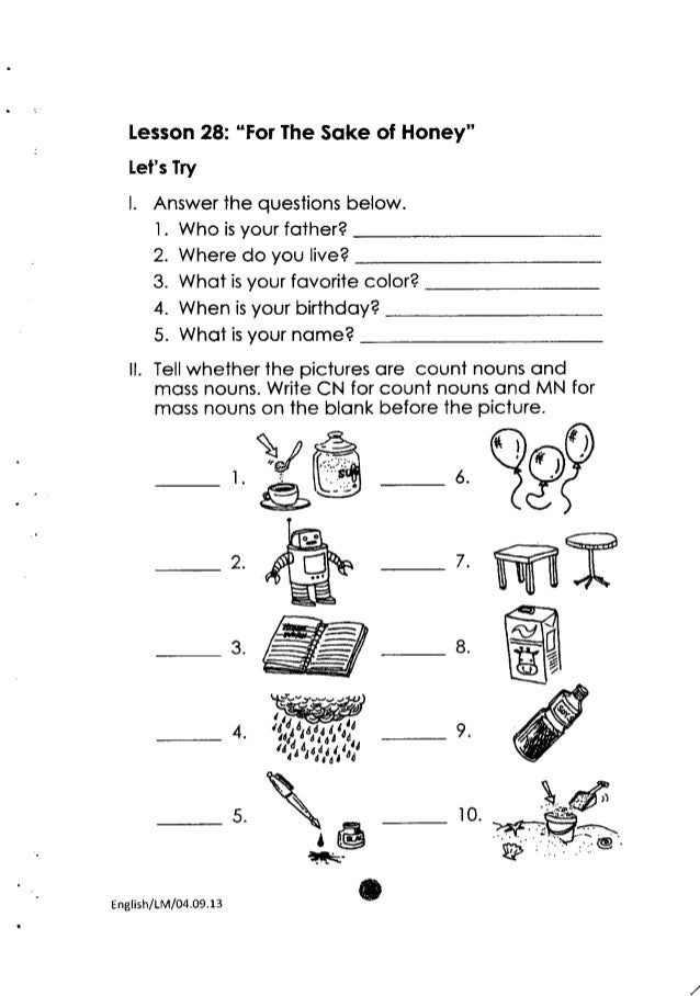 Worksheets Lesson For Grade 2 k to 12 grade 2 learning material in english 79 lesson