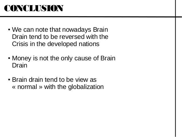 Problem of brain drain essays