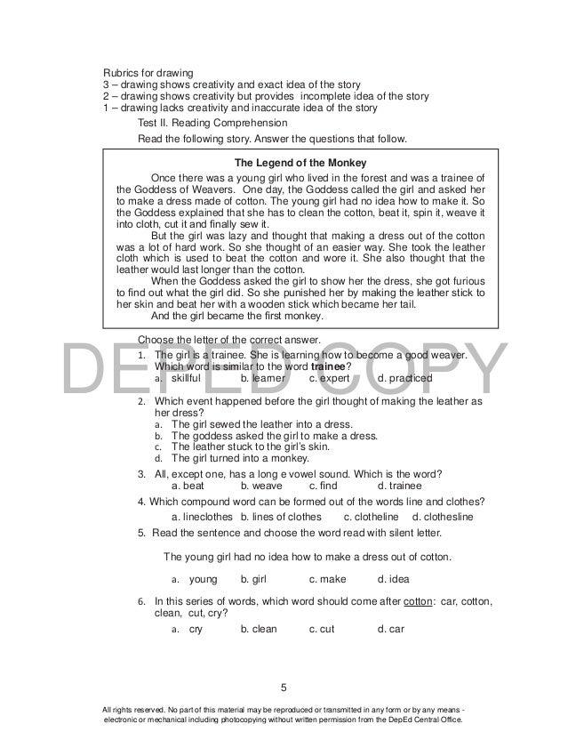 K TO 12 GRADE 4 TEACHER'S GUIDE IN ENGLISH (Q1-Q4)