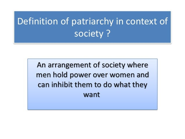 negative effects of patriarchy