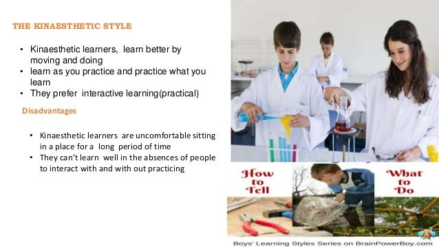 THE AUDITORY STYLE • Prefer learning by hearing what they want to learn • Learn best by listening to discussions, talking ...