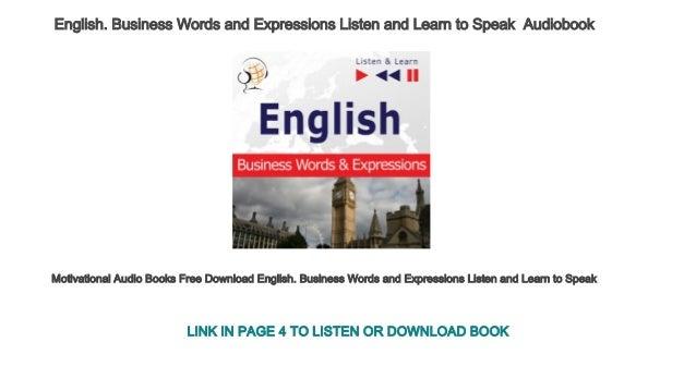 english speaking audio book free download