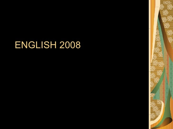 ENGLISH 2008