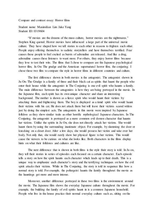 Writing comparison essays