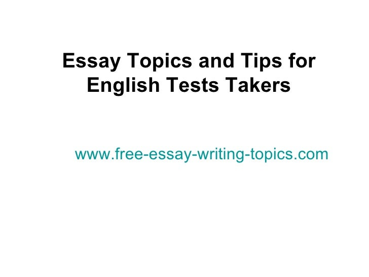 Topics for essays in english