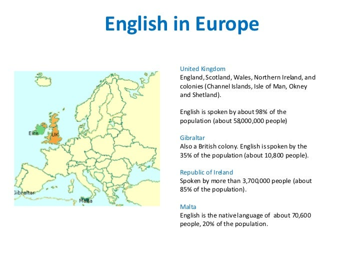 English Language Around The World - English language spoken in the world