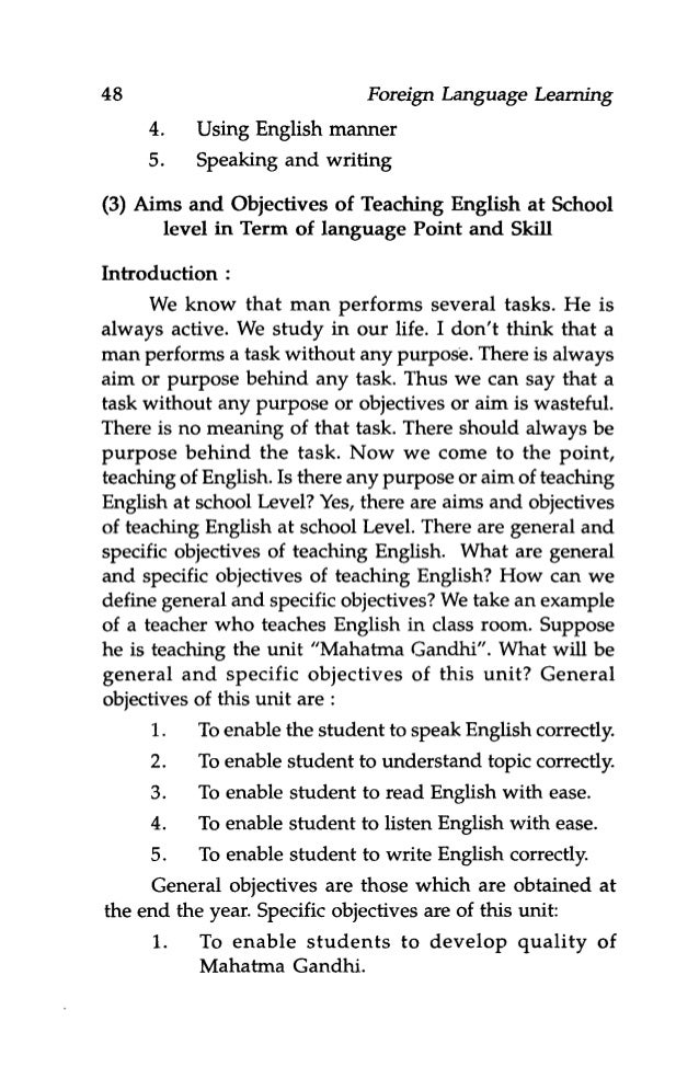 aims and objectives of teaching english Course objectives for reading and vocabulary this course will develop the   understand and apply the conventions of academic writing in english course  objectives writing  use peer and teacher feedback to edit writing • build  academic.