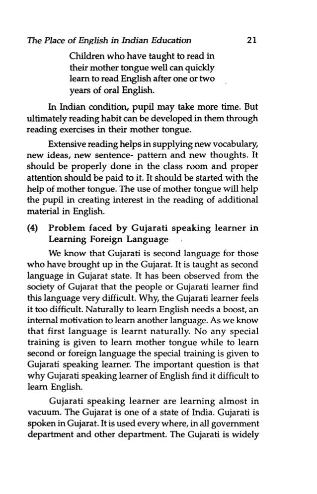 English Languageteaching The Gujarati Is Widely