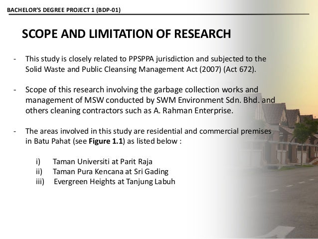 What are scope and limitations of research?