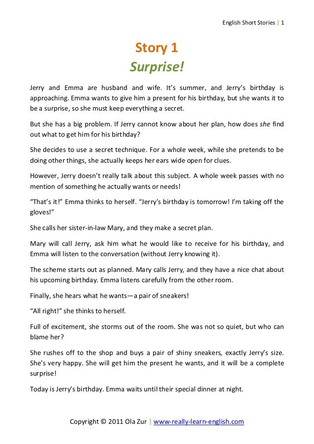 essay on surprise gift