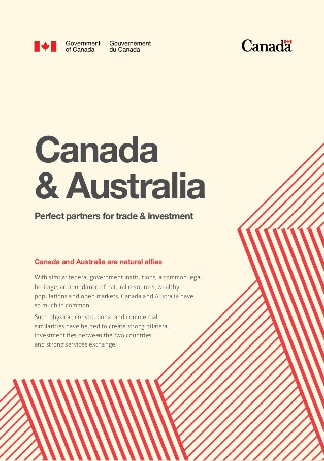 Canada & Australia - Perfect partners for trade & investment