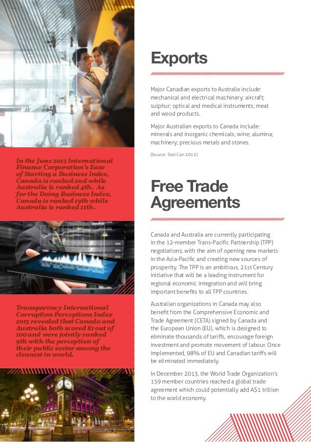 Canada Australia Perfect Partners For Trade Investment