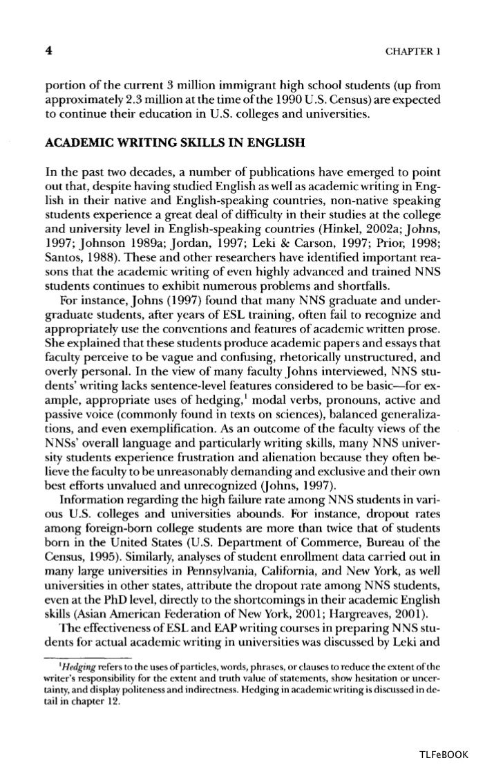 english teaching academic esl writing practical techniques in vocab 4 chapter 1portion of the current 3 million immigrant high school students up fromapproximately 2 3 million at the time of the 1990 u s census are