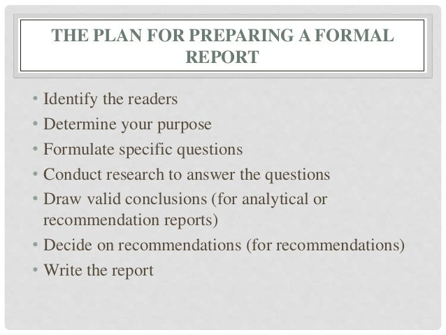 Charming 11. THE PLAN FOR PREPARING A FORMAL REPORT ... Throughout Layout Of A Formal Report