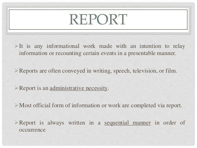 types of report writing pdf