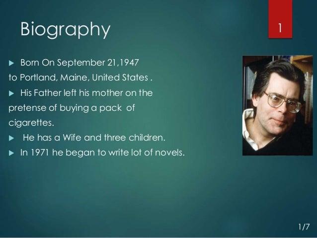 Stephen King Biography Presentation 2015 By An Ariyan