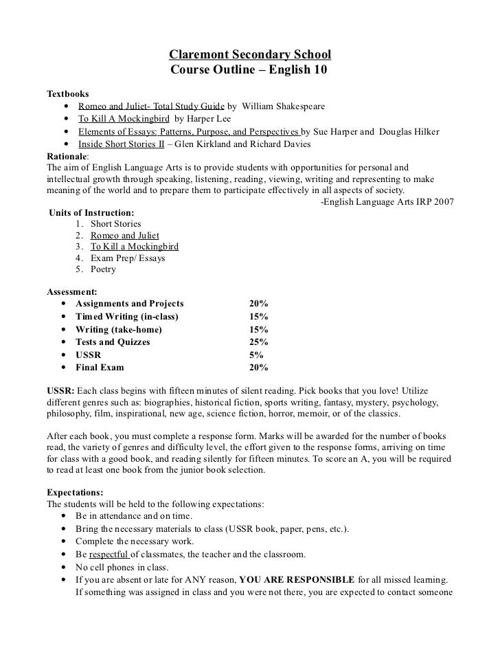 grade 9 english essay outline How to write an english essay while taking english courses in high school and college, you'll likely be assigned to write.
